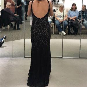 Black Lace Prom Dress